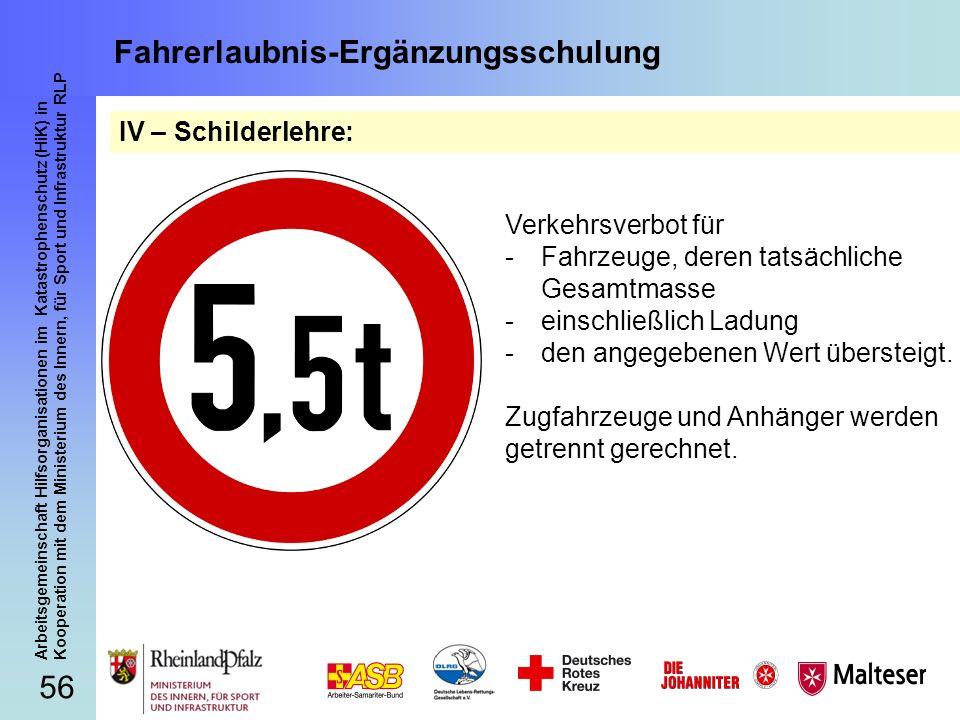 56 Arbeitsgemeinschaft Hilfsorganisationen im Katastrophenschutz (HiK) in Kooperation mit dem Ministerium des Innern, für Sport und Infrastruktur RLP