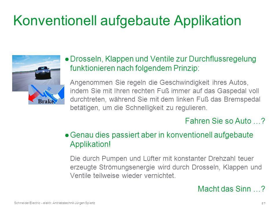 27 Schneider Electric - elektr. Antriebstechnik Jürgen Spiertz Drosseln, Klappen und Ventile zur Durchflussregelung funktionieren nach folgendem Prinz