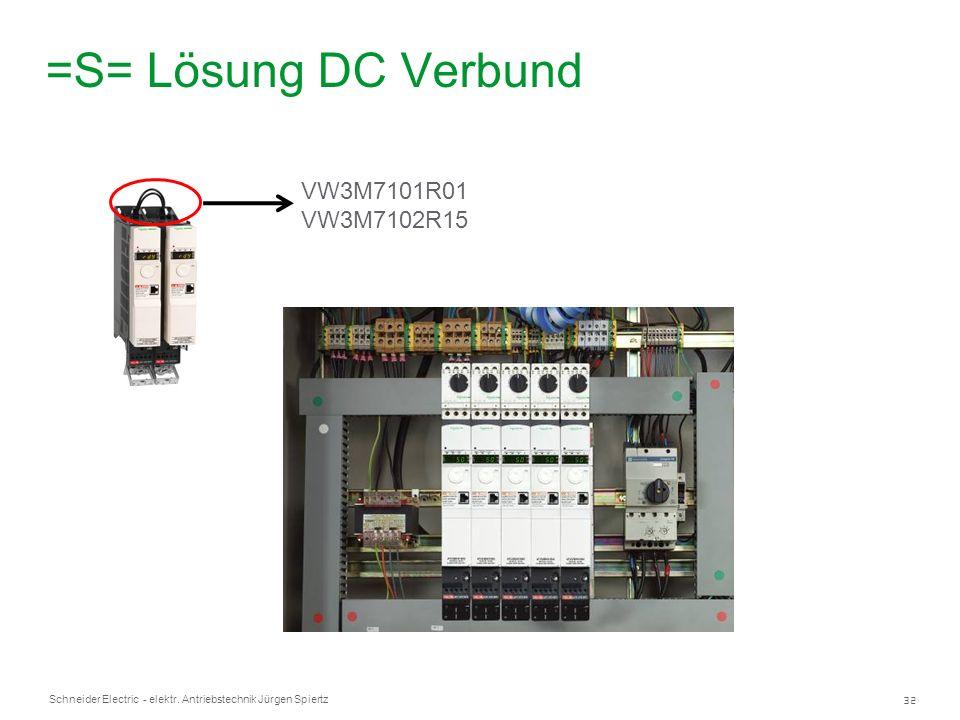32 Schneider Electric - elektr. Antriebstechnik Jürgen Spiertz =S= Lösung DC Verbund VW3M7101R01 VW3M7102R15