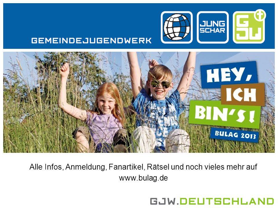 Alle Infos, Anmeldung, Fanartikel, Rätsel und noch vieles mehr auf www.bulag.de