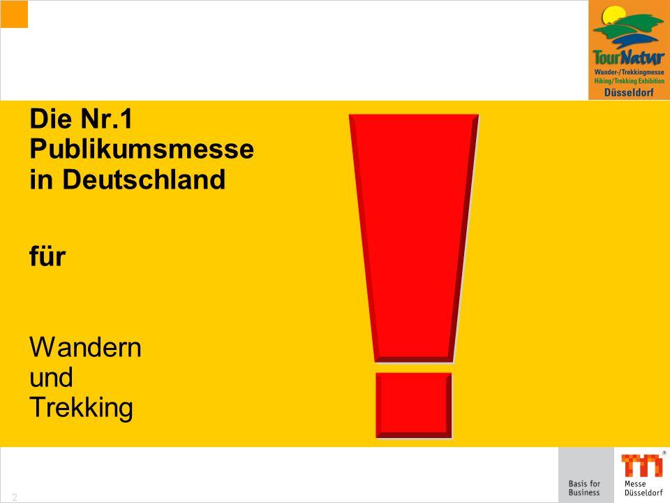 2 Die Nr.1 Publikumsmesse in Deutschland für Wandern und Trekking