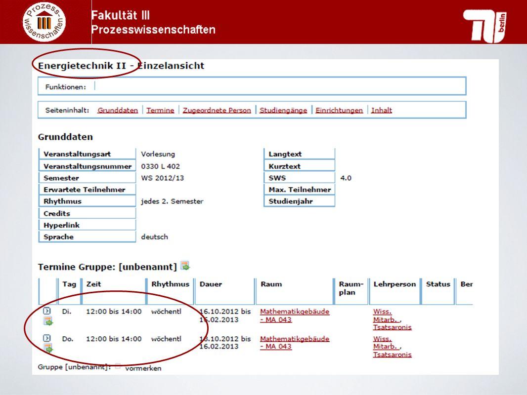 Vorlesungsverzeichnis www.tu-berlin.de/lsf/