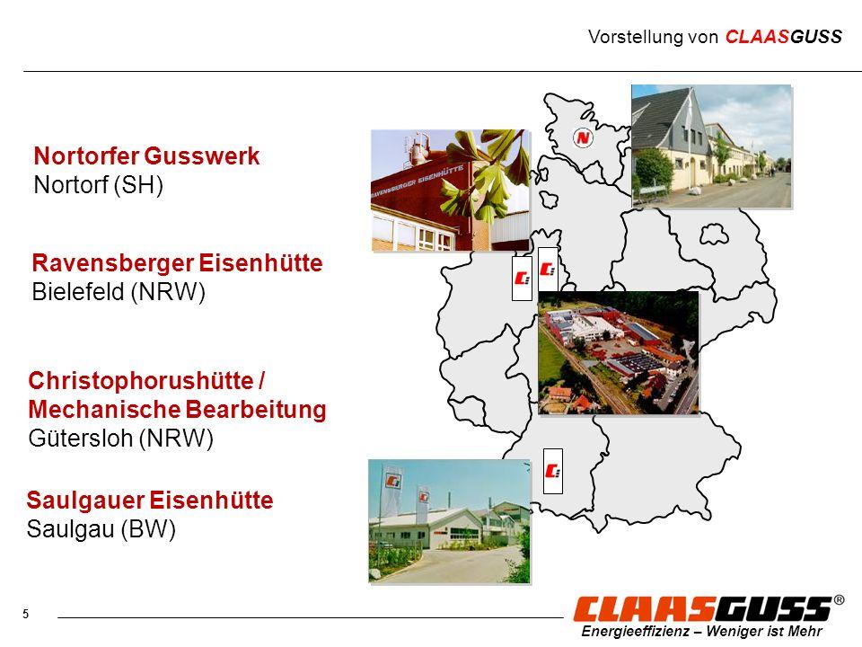 5 Energieeffizienz – Weniger ist Mehr Nortorfer Gusswerk Nortorf (SH) Christophorushütte / Mechanische Bearbeitung Gütersloh (NRW) Ravensberger Eisenh