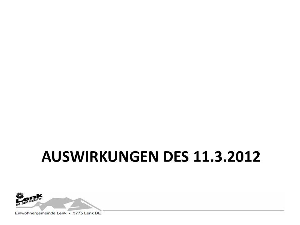 AUSWIRKUNGEN DES 11.3.2012