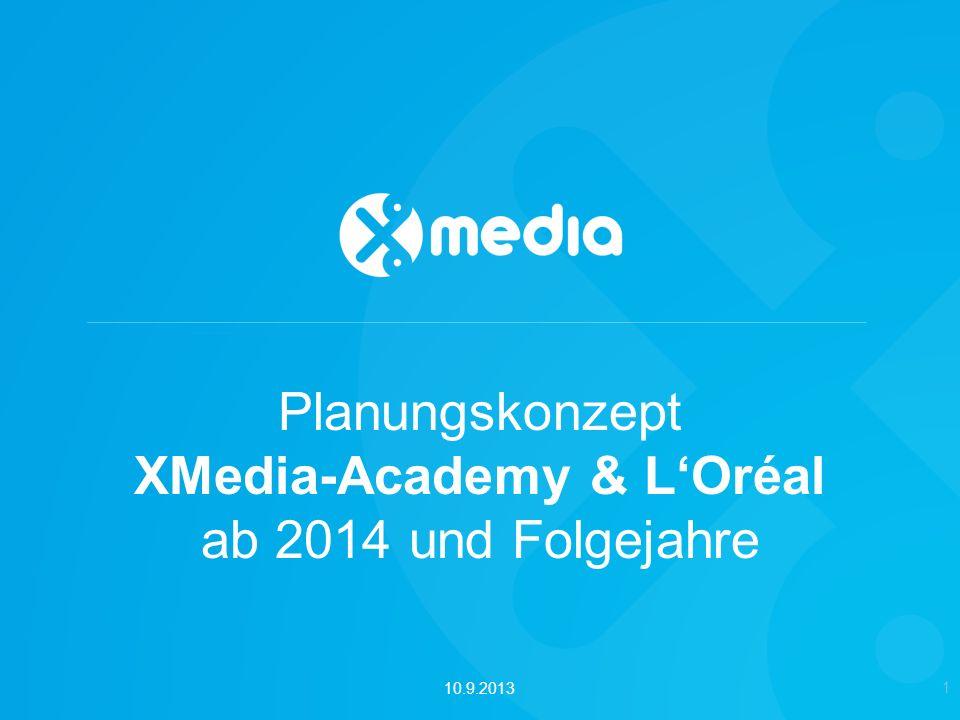 Planungskonzept XMedia-Academy & LOréal ab 2014 und Folgejahre 1 10.9.2013