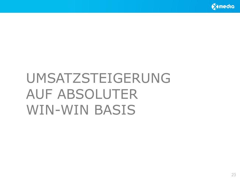 UMSATZSTEIGERUNG AUF ABSOLUTER WIN-WIN BASIS 23