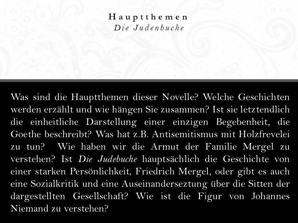 Erzählperspektive Die Judenbuche Was ist die Erzählperspektive dieser Novelle.