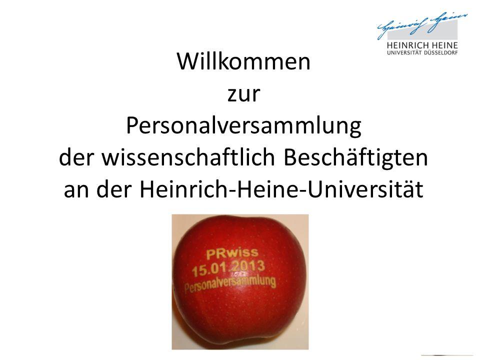 Willkommen zur Personalversammlung der wissenschaftlich Beschäftigten an der Heinrich-Heine-Universität