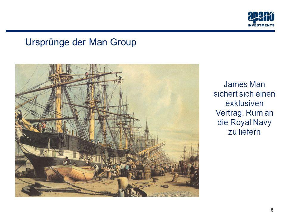 5 5 James Man sichert sich einen exklusiven Vertrag, Rum an die Royal Navy zu liefern Ursprünge der Man Group