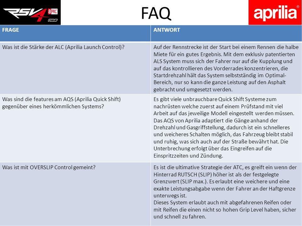 FRAGEANTWORT Was ist die Stärke der ALC (Aprilia Launch Control)?Auf der Rennstrecke ist der Start bei einem Rennen die halbe Miete für ein gutes Erge