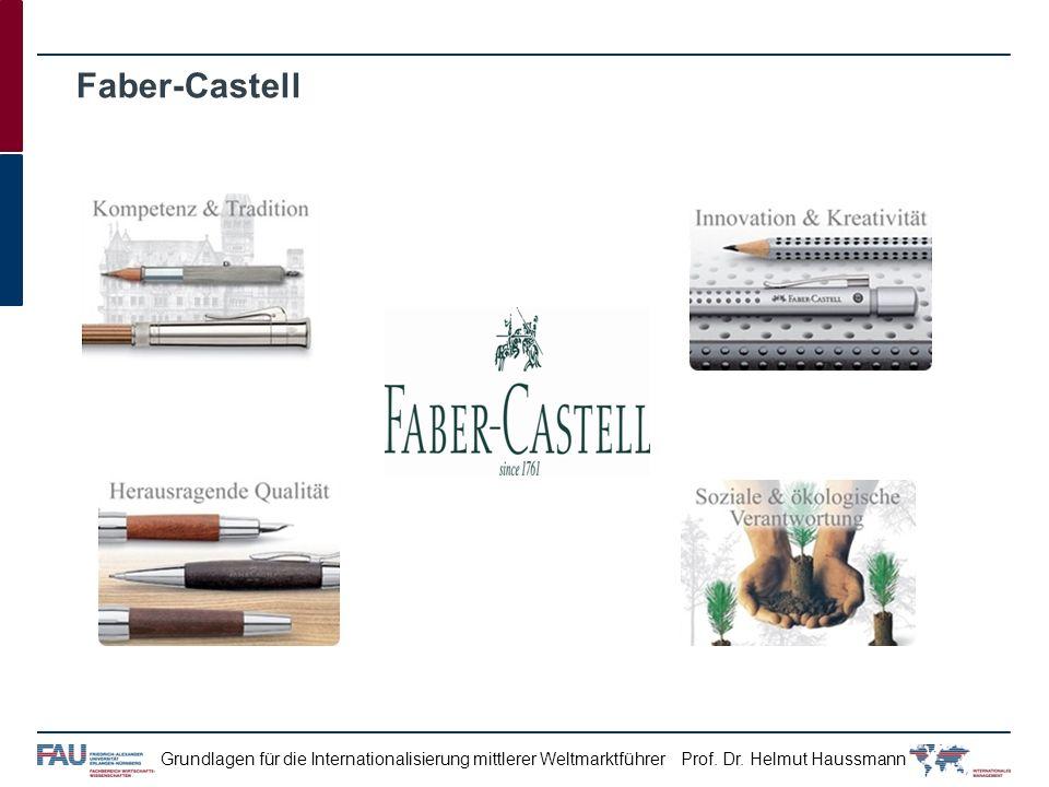 Prof. Dr. Helmut HaussmannGrundlagen für die Internationalisierung mittlerer Weltmarktführer Faber-Castell