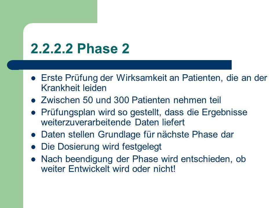 2.2.2.1 Phase 1 Anwendung muss an einem gesunden Probanden (Versuchsperson) mittleren Alters erfolgen. In dieser Phase werden: Wirkstoffe auf Verträgl