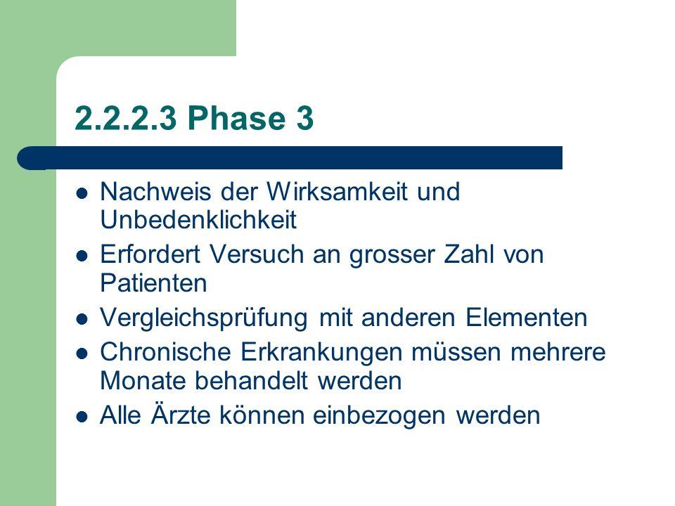 2.2.2.2 Phase 2 Erste Prüfung der Wirksamkeit an Patienten, die an der Krankheit leiden Zwischen 50 und 300 Patienten nehmen teil Prüfungsplan wird so