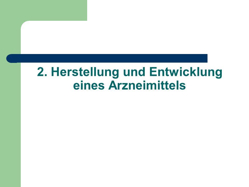2. Herstellung und Entwicklung eines Arzneimittels