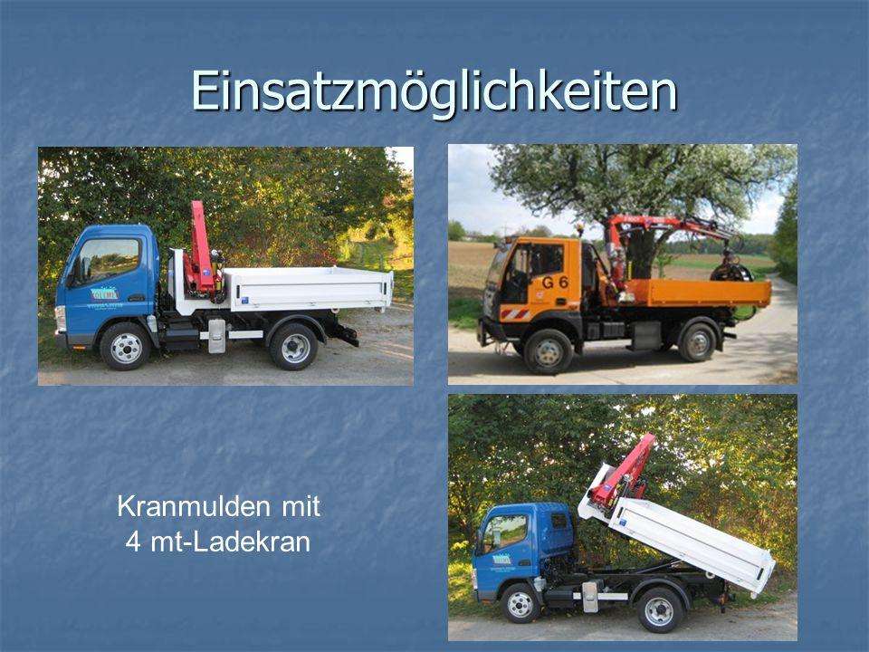Einsatzmöglichkeiten Kranmulden mit 4 mt-Ladekran