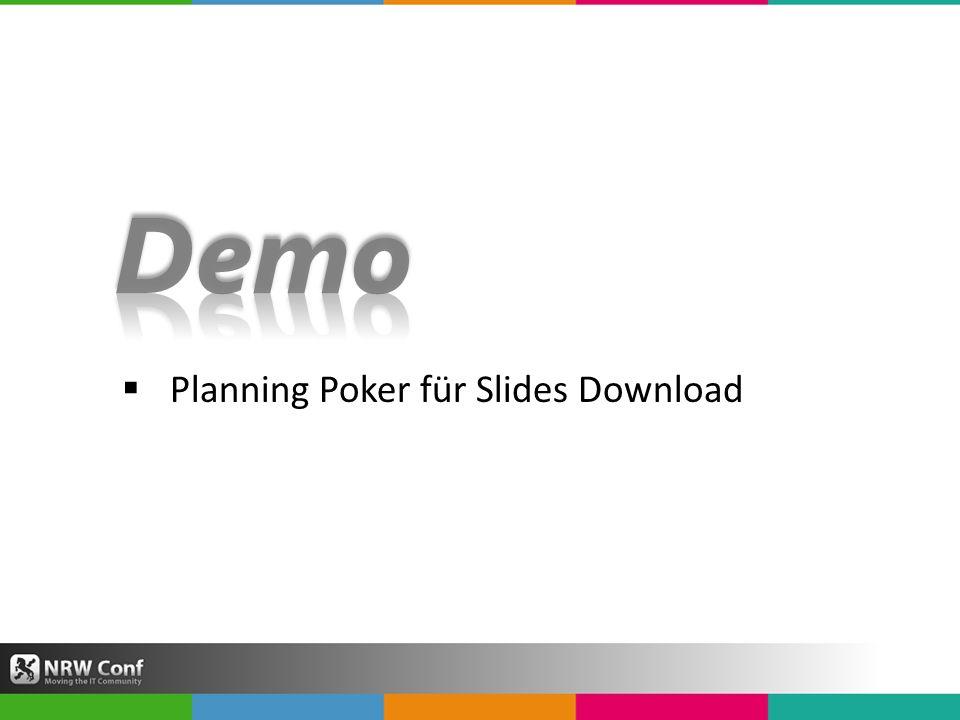 Planning Poker für Slides Download