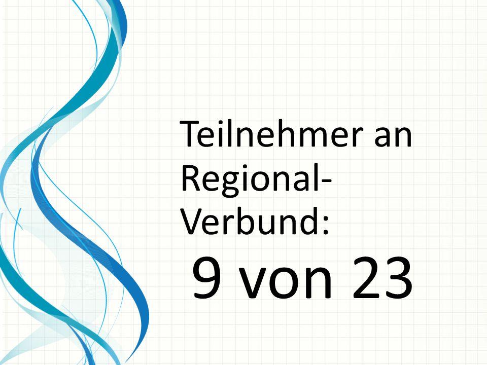 Teilnehmer an Regional- Verbund: 9 von 23
