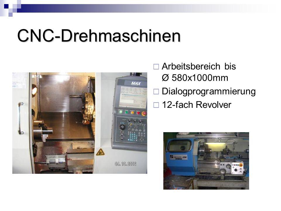 CNC-Drehmaschinen Arbeitsbereich bis Ø 580x1000mm Dialogprogrammierung 12-fach Revolver