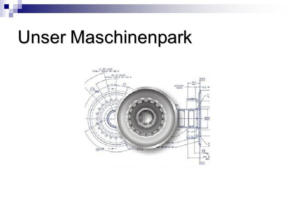 Unser Maschinenpark