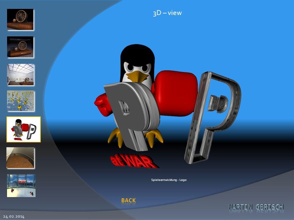 24.02.2014 3D – view Spieleentwicklung - Logo