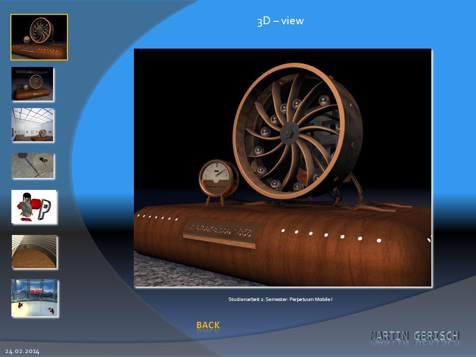 3D – view Studienarbeit 2. Semester: Perpetuum Mobile I