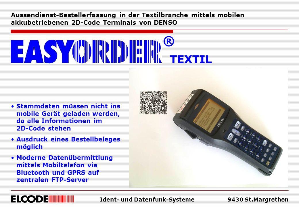 Ident- und Datenfunk-Systeme9430 St.Margrethen Welche Kundendaten stehen im 2D-Code.