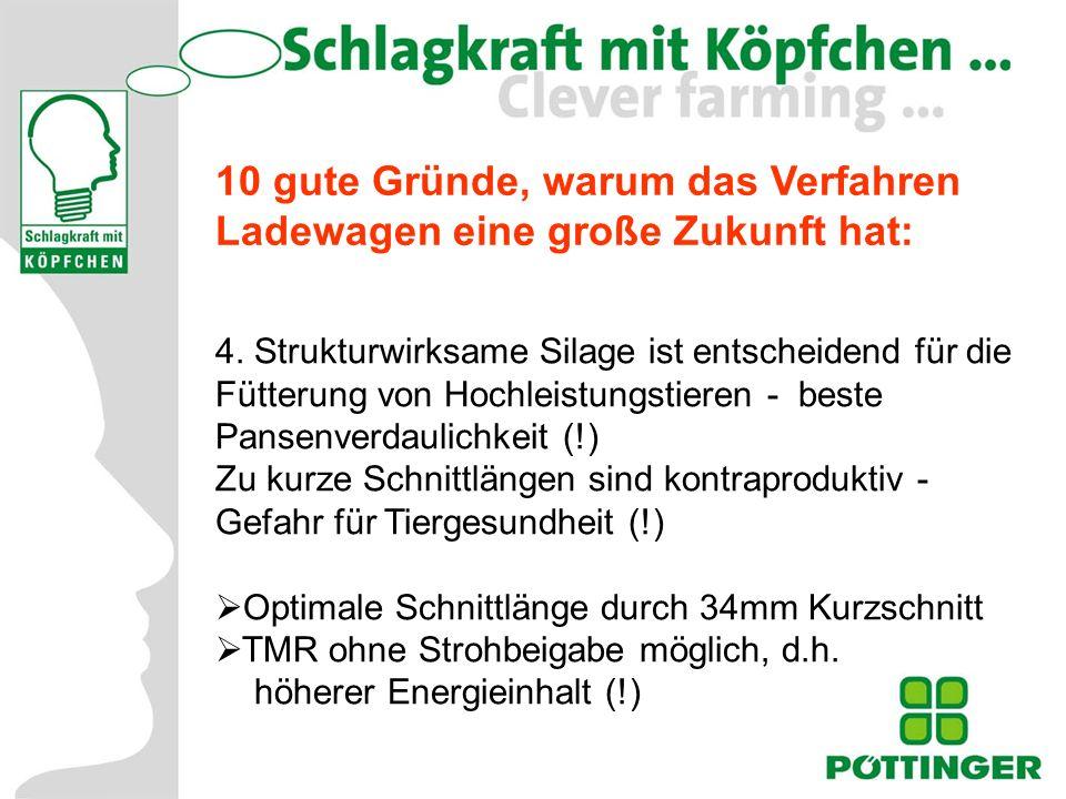 Grundfuttertage 2004 10 gute Gründe, warum das Verfahren Ladewagen eine große Zukunft hat: 5.