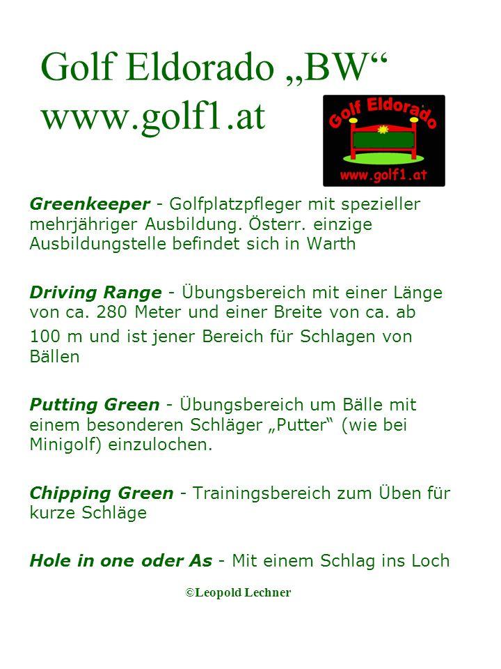 Golf Eldorado BW www.golf1.at Greenkeeper - Golfplatzpfleger mit spezieller mehrjähriger Ausbildung.