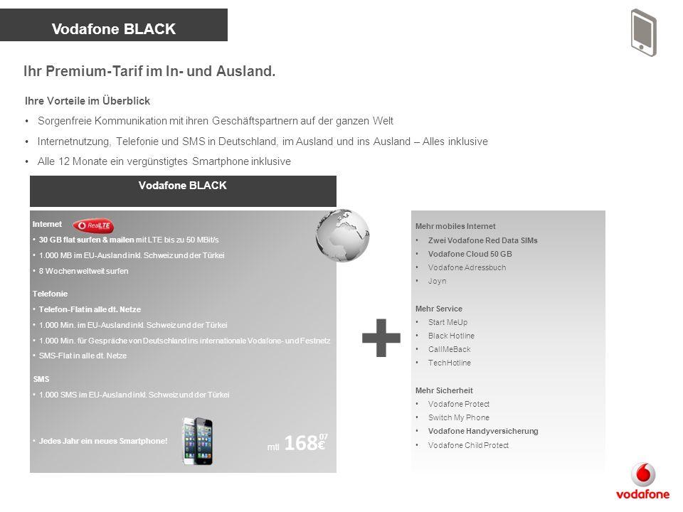 Vodafone Smartphone Allnet 200 MB flat surfen & mailen mit bis zu 7,2 MBit/s Telefon-Flat in alle dt.