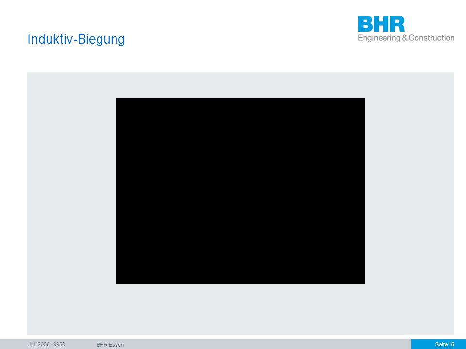 Juli 2008 · 9950 BHR Essen Seite 15 Induktiv-Biegung