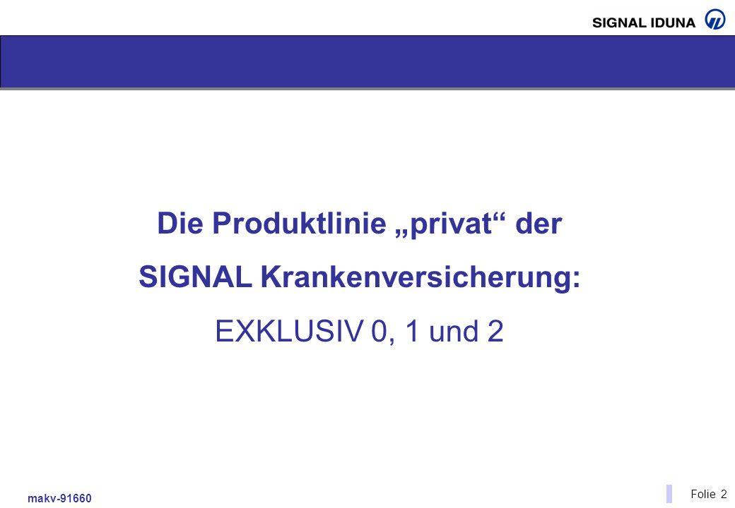 makv-91660 Folie 2 Die Produktlinie privat der SIGNAL Krankenversicherung: EXKLUSIV 0, 1 und 2