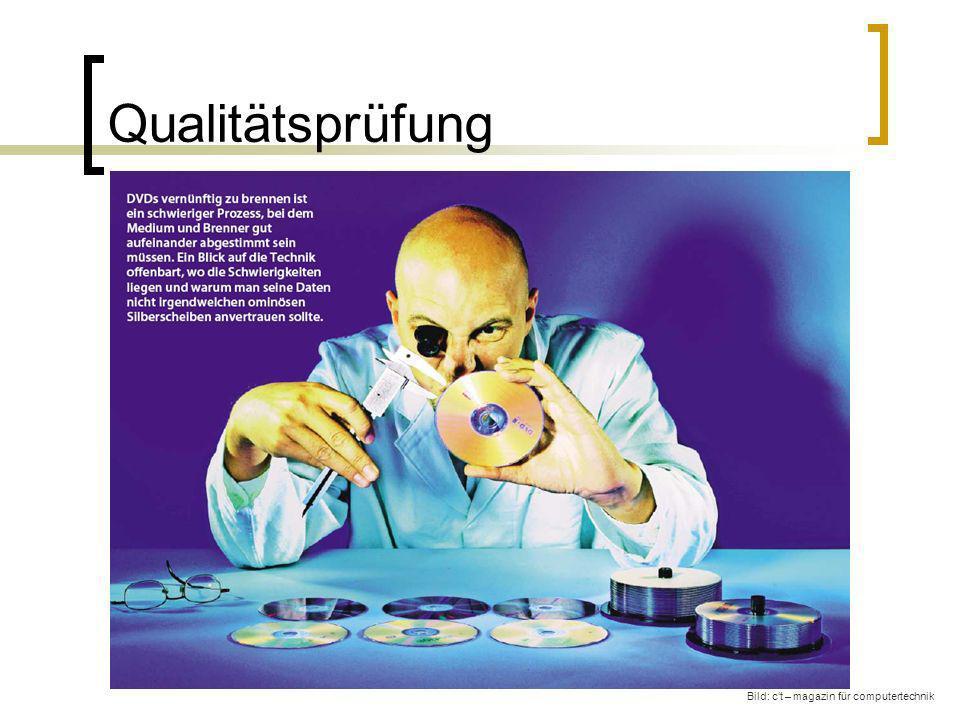 Qualitätsprüfung Bild: ct – magazin für computertechnik