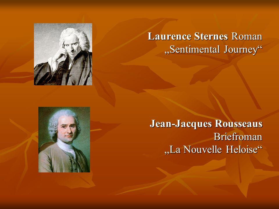 Laurence Sternes Roman Sentimental Journey Jean-Jacques Rousseaus Briefroman La Nouvelle Heloise