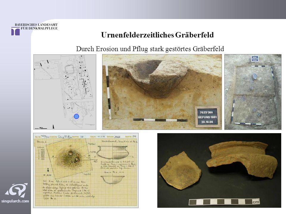 singularch.com Die vorgeschichtliche Siedlung Haustypen am Hangfuß Haustypen auf Terrasse Urnenfelder- (bis hallstattzeitliche) Siedlung