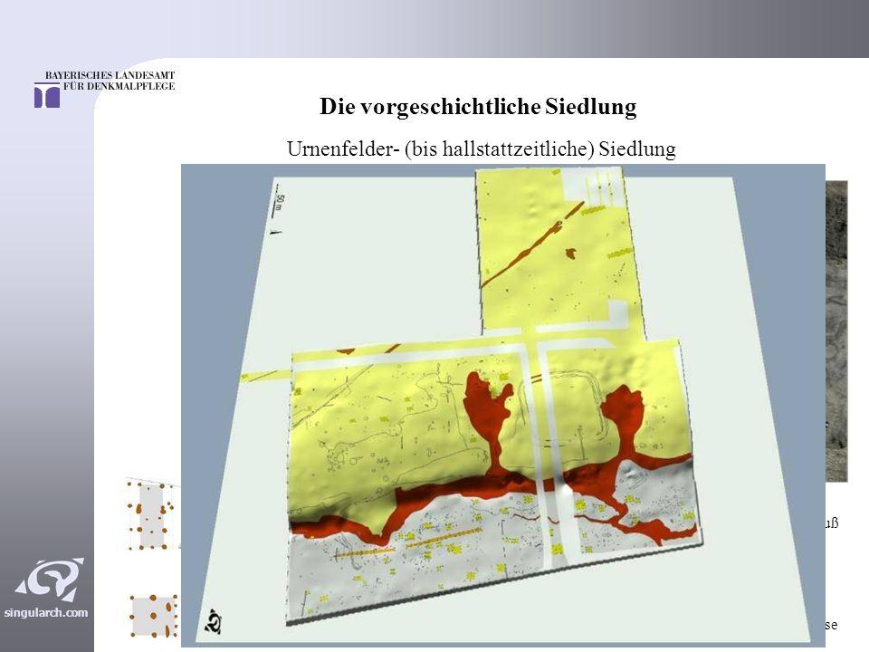 singularch.com Römische Siedlungsbefunde Einige weitgehend identisch konstruierte Öfen Ofen 701/702 5,8 m Grube 703