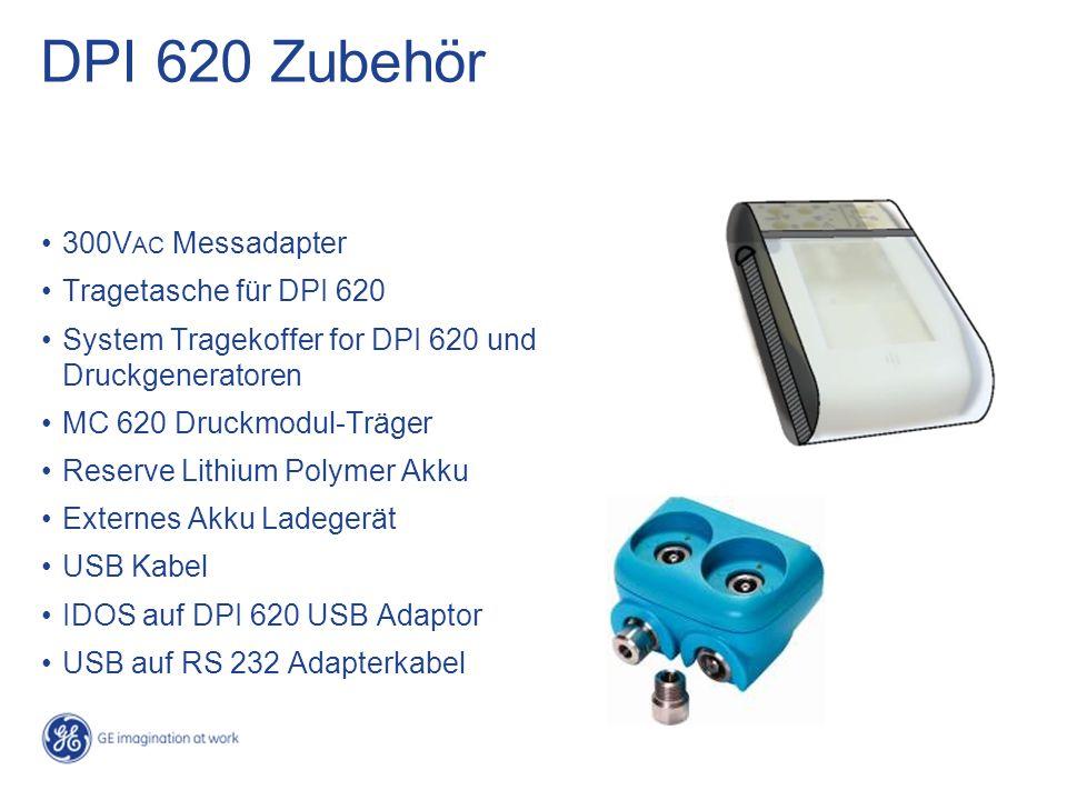 DPI 620 Zubehör 300V AC Messadapter Tragetasche für DPI 620 System Tragekoffer for DPI 620 und Druckgeneratoren MC 620 Druckmodul-Träger Reserve Lithi