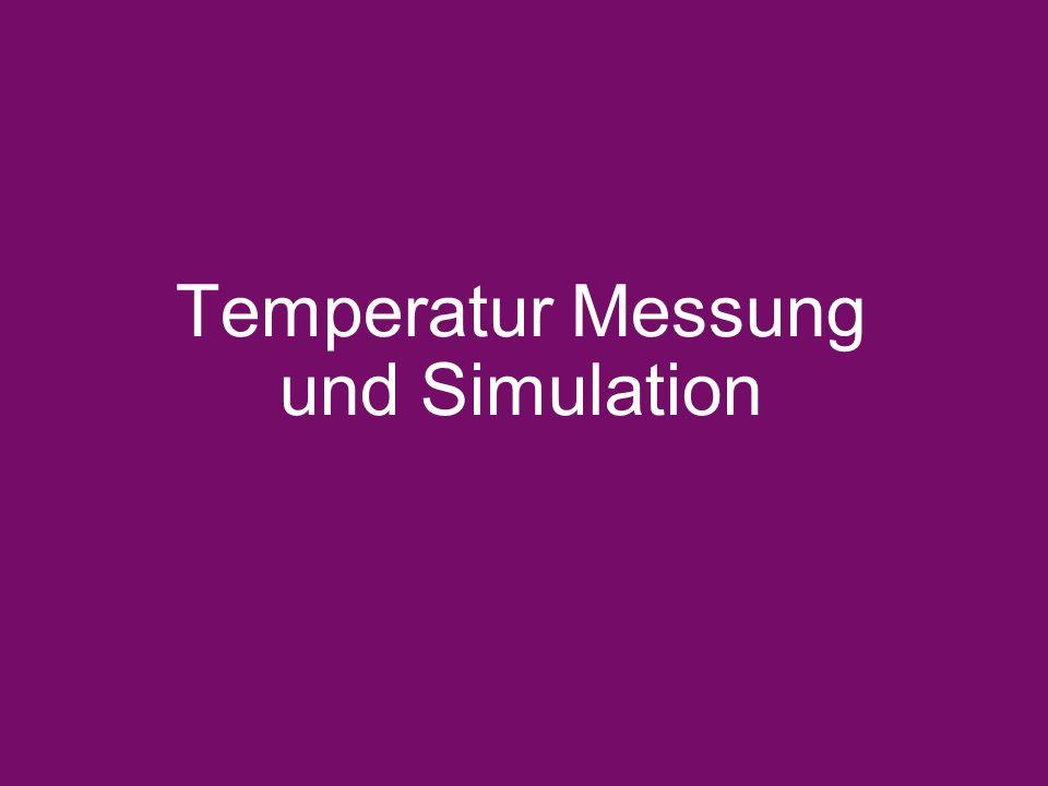 Temperatur Messung und Simulation