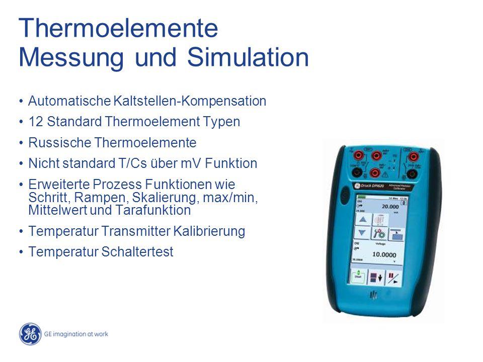 Thermoelemente Messung und Simulation Automatische Kaltstellen-Kompensation 12 Standard Thermoelement Typen Russische Thermoelemente Nicht standard T/