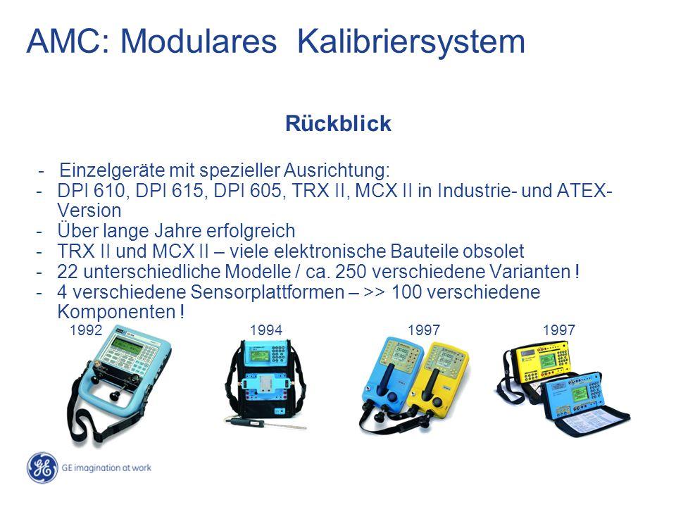 Rückblick - Einzelgeräte mit spezieller Ausrichtung: -DPI 610, DPI 615, DPI 605, TRX II, MCX II in Industrie- und ATEX- Version -Über lange Jahre erfo