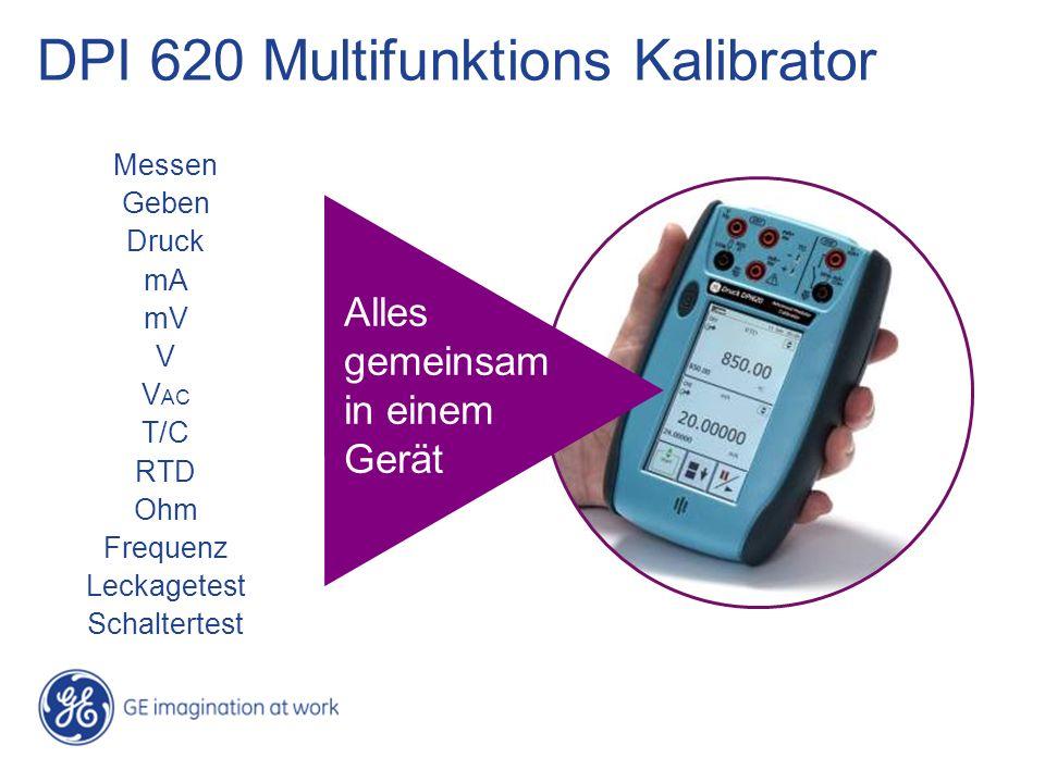 DPI 620 Multifunktions Kalibrator Messen Geben Druck mA mV V V AC T/C RTD Ohm Frequenz Leckagetest Schaltertest Alles gemeinsam in einem Gerät