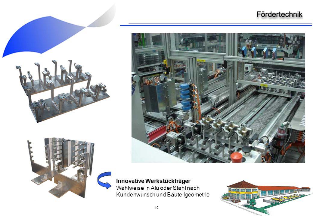 10 Innovative Werkstückträger Innovative Werkstückträger Wahlweise in Alu oder Stahl nach Kundenwunsch und Bauteilgeometrie