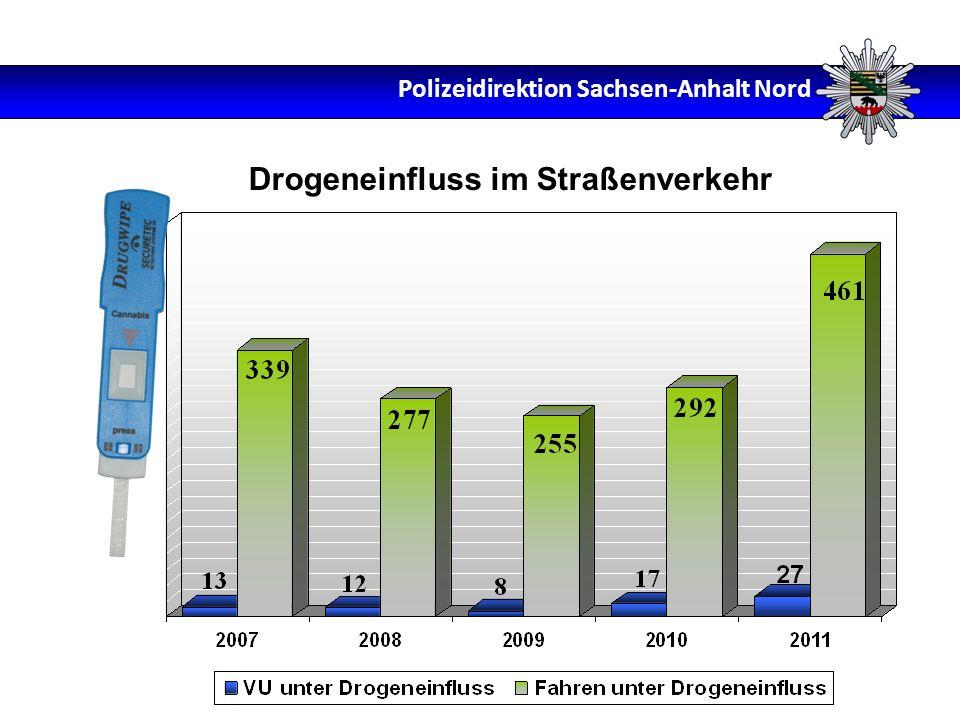 Drogeneinfluss im Straßenverkehr Polizeidirektion Sachsen-Anhalt Nord