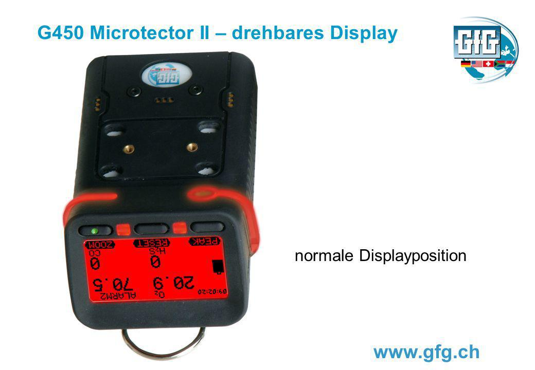 G450 Microtector II – drehbares Display www.gfg.ch normale Displayposition