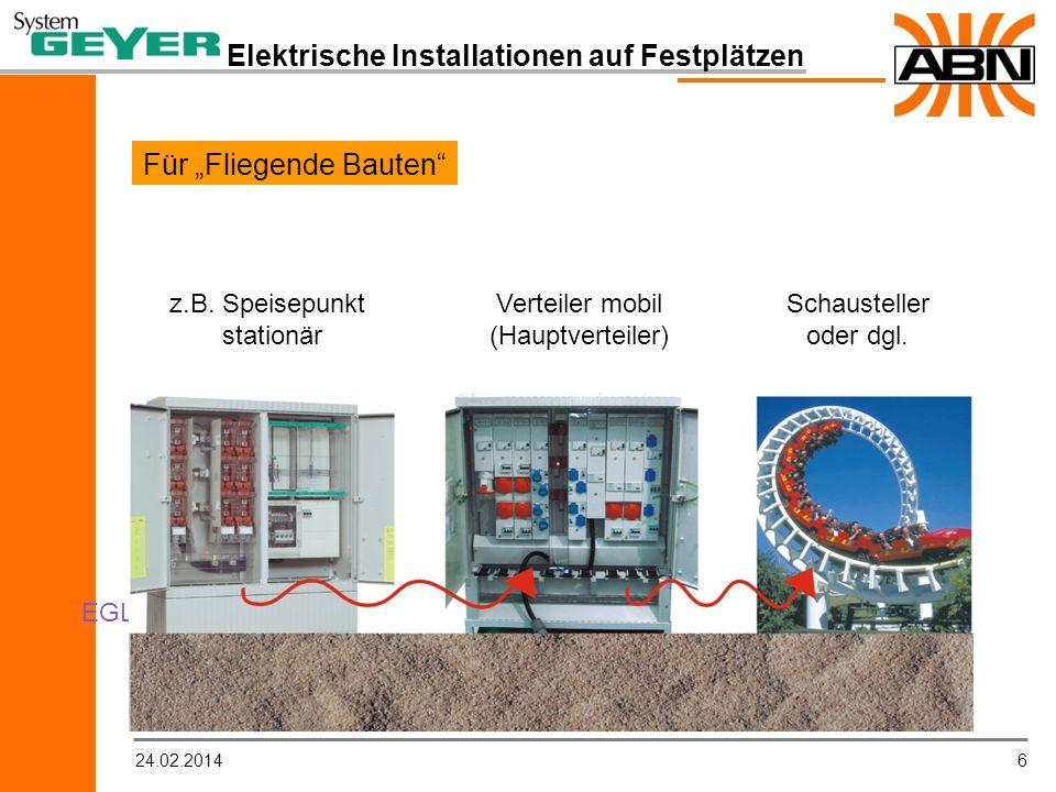 624.02.2014 Elektrische Installationen auf Festplätzen Für Fliegende Bauten z.B.