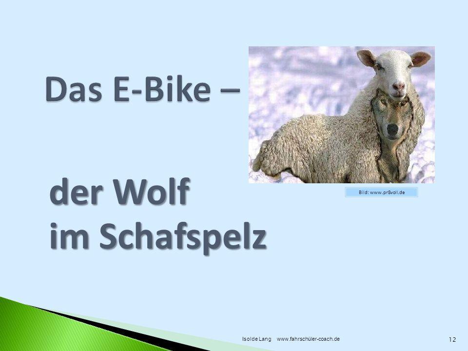 der Wolf im Schafspelz Bild: www.pr8voll.de 12 Isolde Lang www.fahrschüler-coach.de