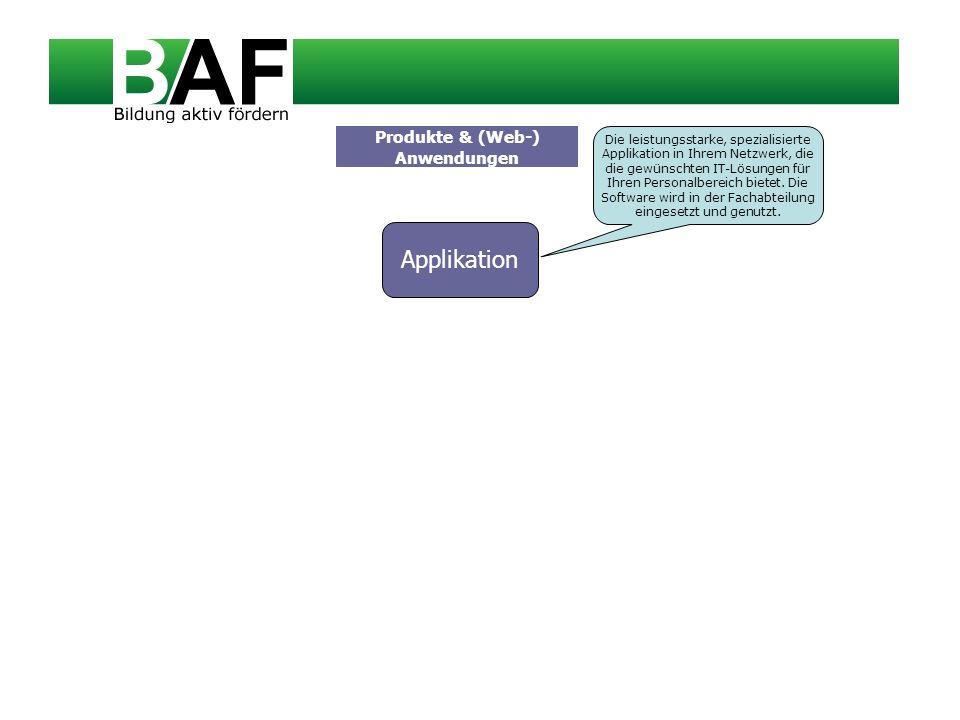 Produkte & (Web-) Anwendungen Applikation Die leistungsstarke, spezialisierte Applikation in Ihrem Netzwerk, die die gewünschten IT-Lösungen für Ihren