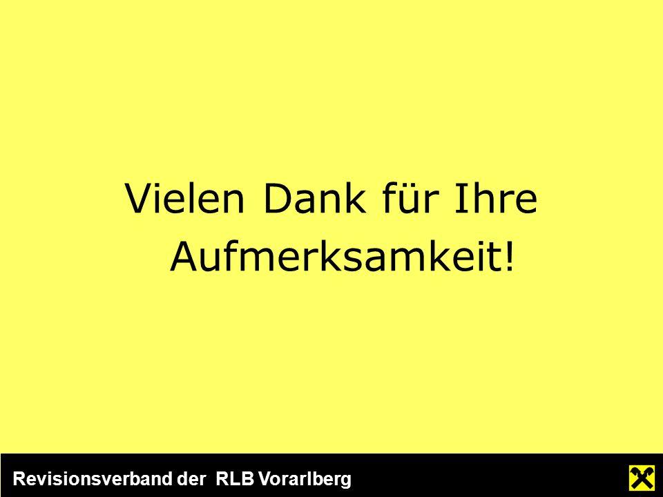 Revisionsverband der RLB Vorarlberg Vielen Dank für Ihre Aufmerksamkeit!