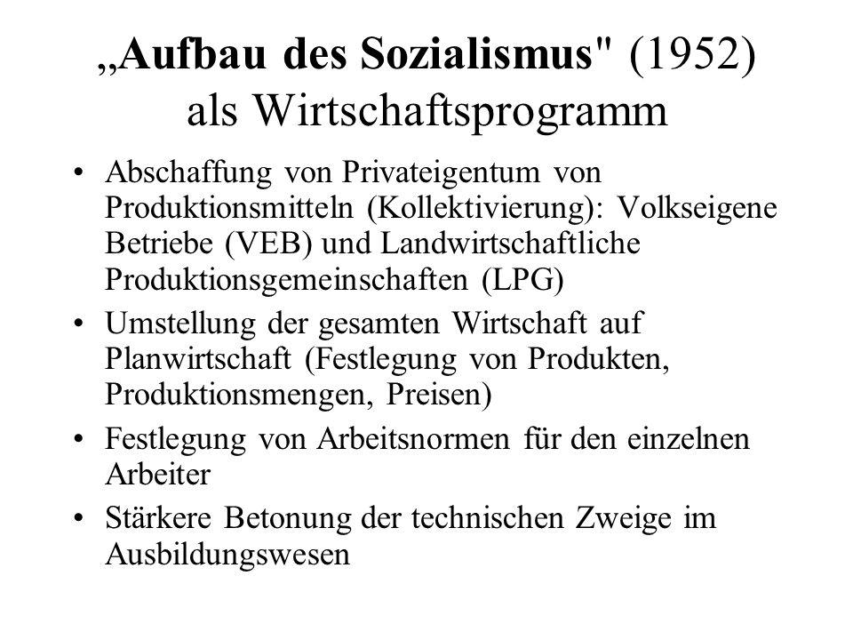Demokratischer Zentralismus Auflösung der Länder (Länderparlamente und Länderregierungen) Bildung von 14 Bezirken, die den Zentralministerien in Ost-Berlin unterstellt wurden.