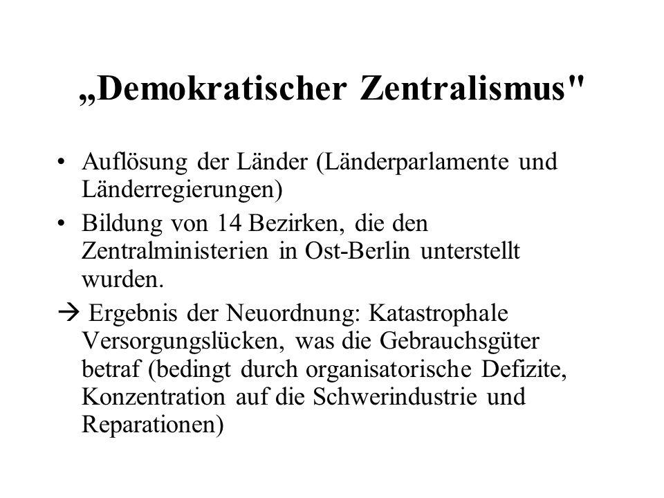 Demokratischer Zentralismus