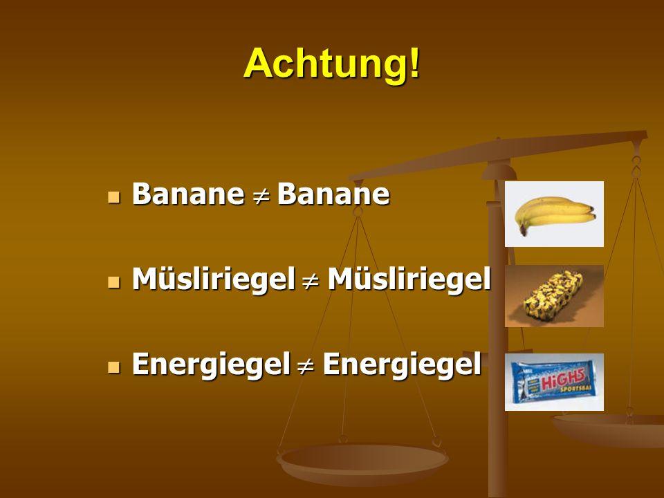 Achtung! Banane Banane Banane Banane Müsliriegel Müsliriegel Müsliriegel Müsliriegel Energiegel Energiegel Energiegel Energiegel